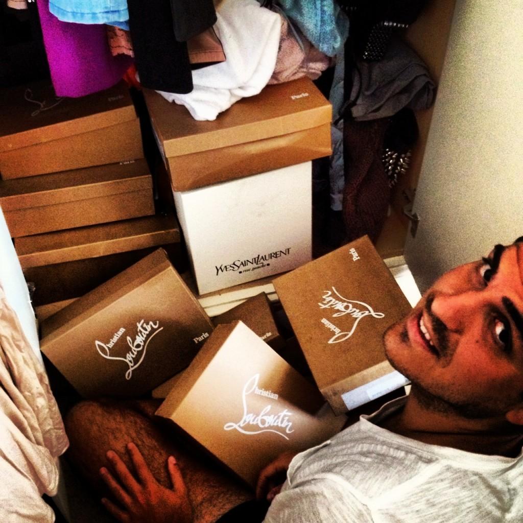 Christian Louboutin shoe boxes