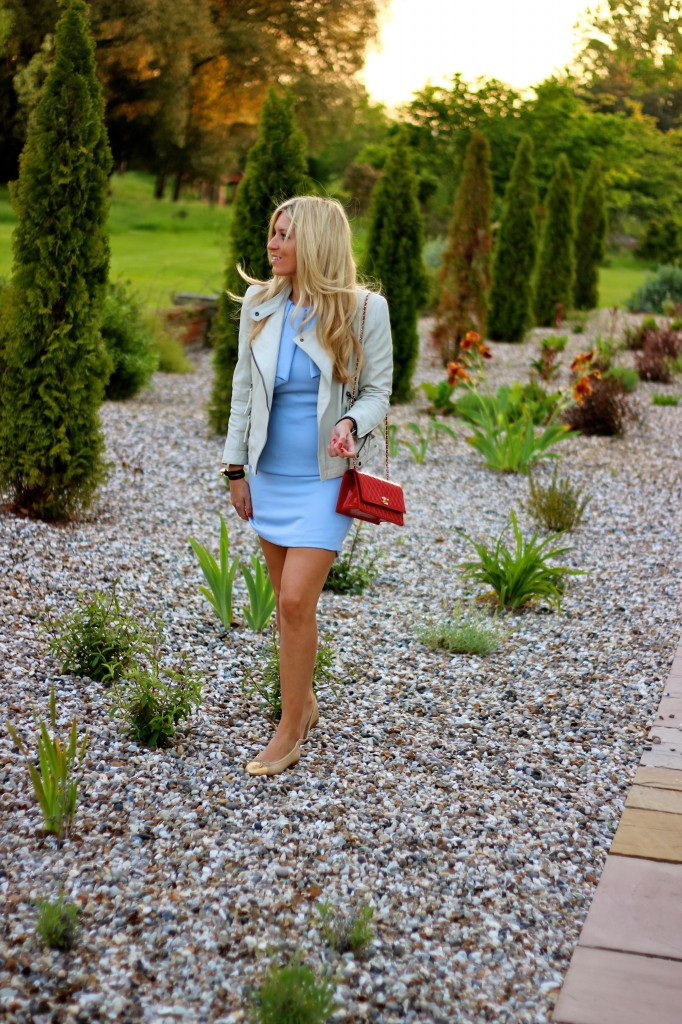 blue dress england jubilee spring outfit fashion blog