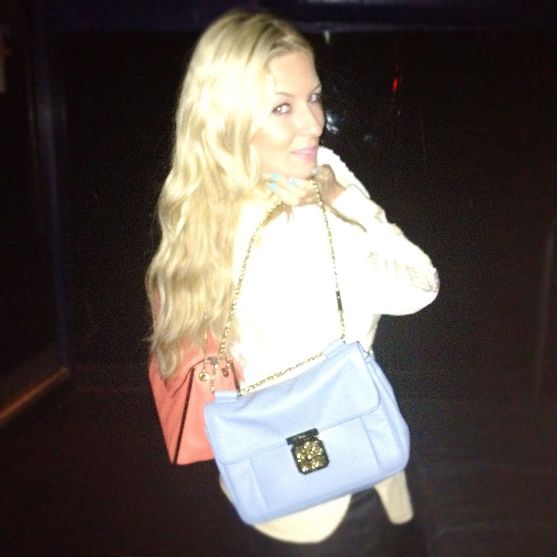 coral chloe bag blue chloe purse