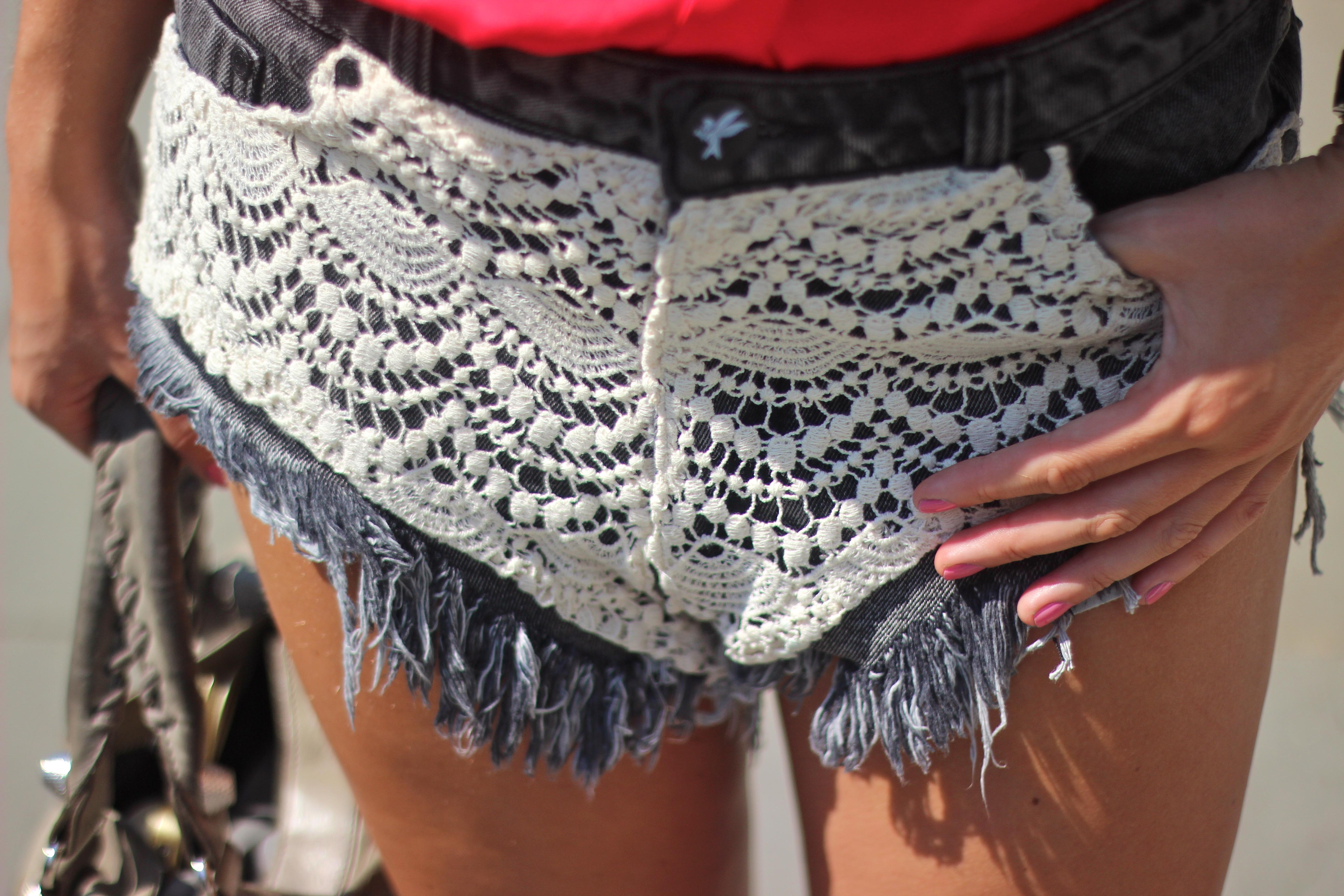 crochet shorts one teaspoon