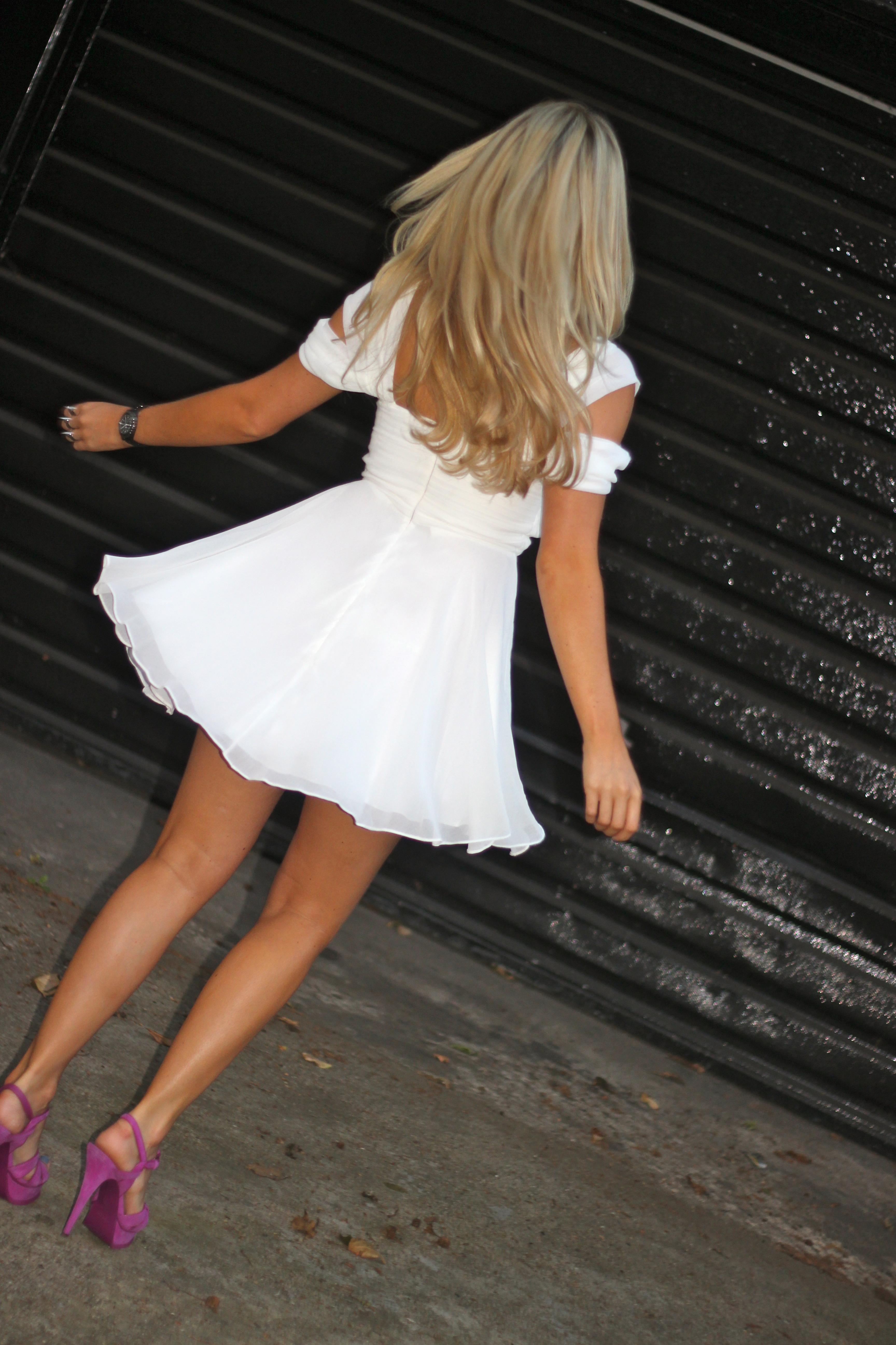 white virgos lounge dress