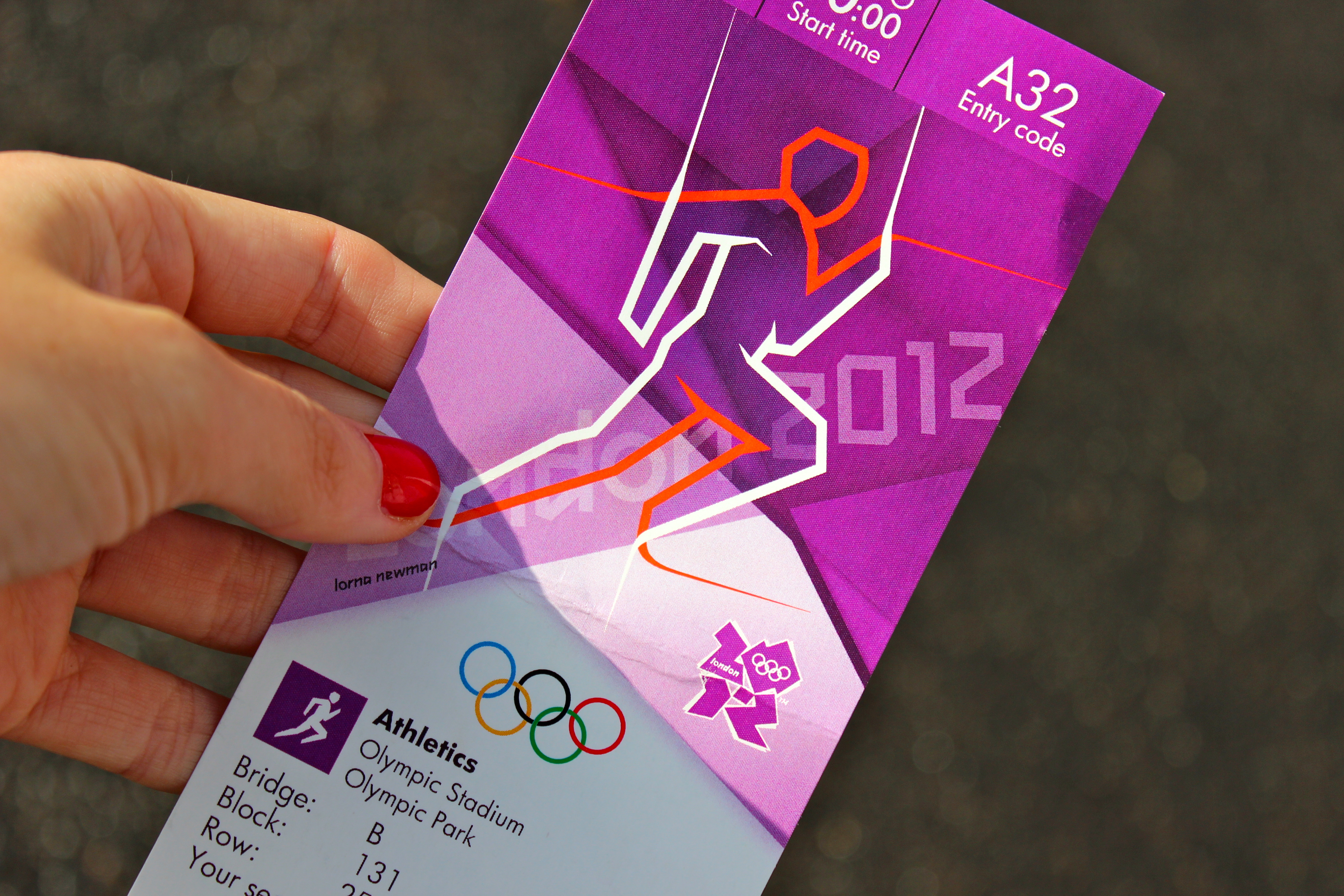 olympic ticket london 2012 athletics