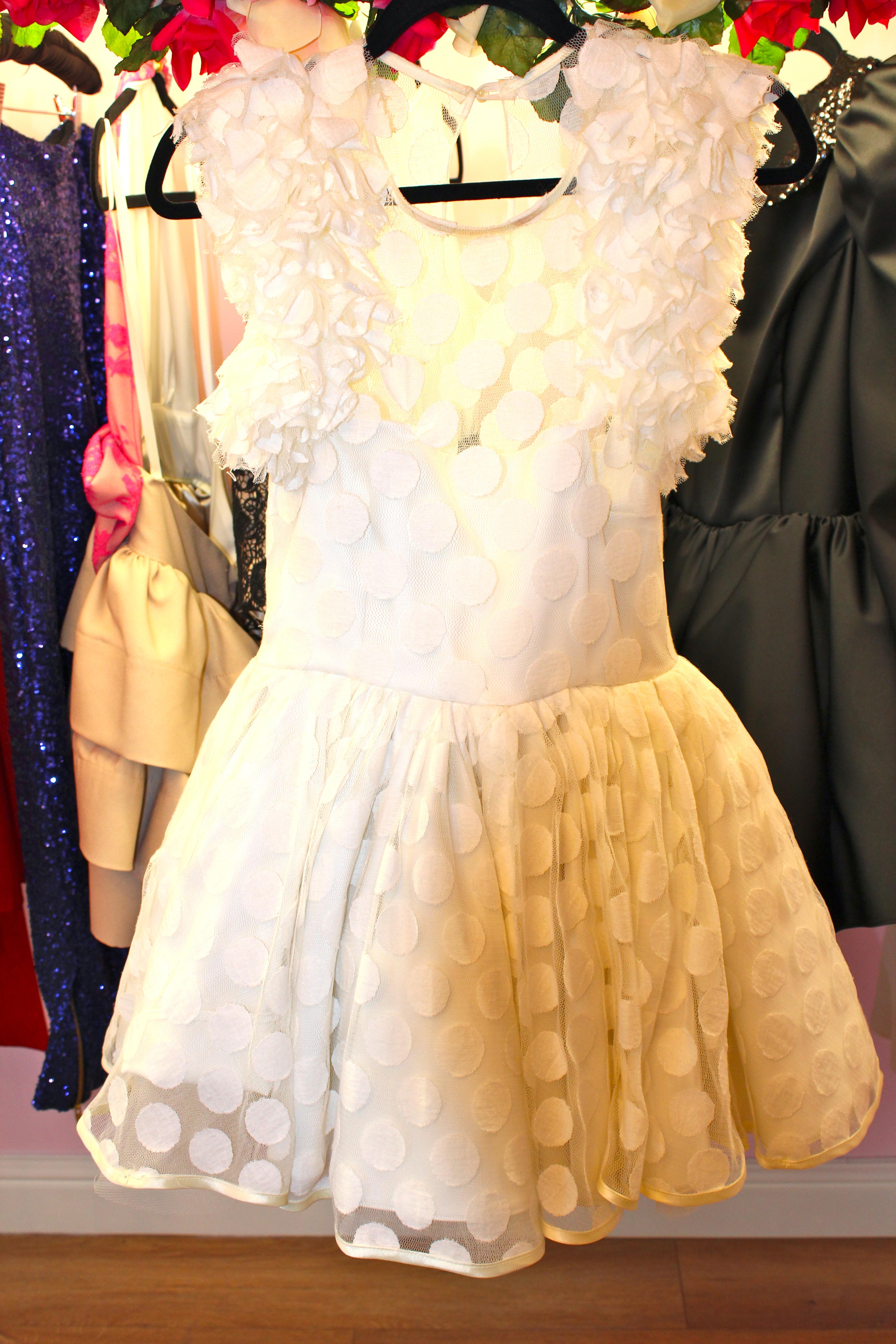 poka dot dress francesca couture