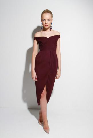 ox blood dress