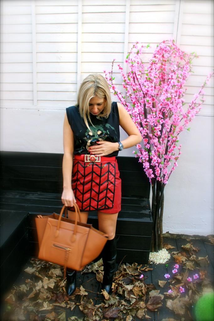 virgos lounge red skirt