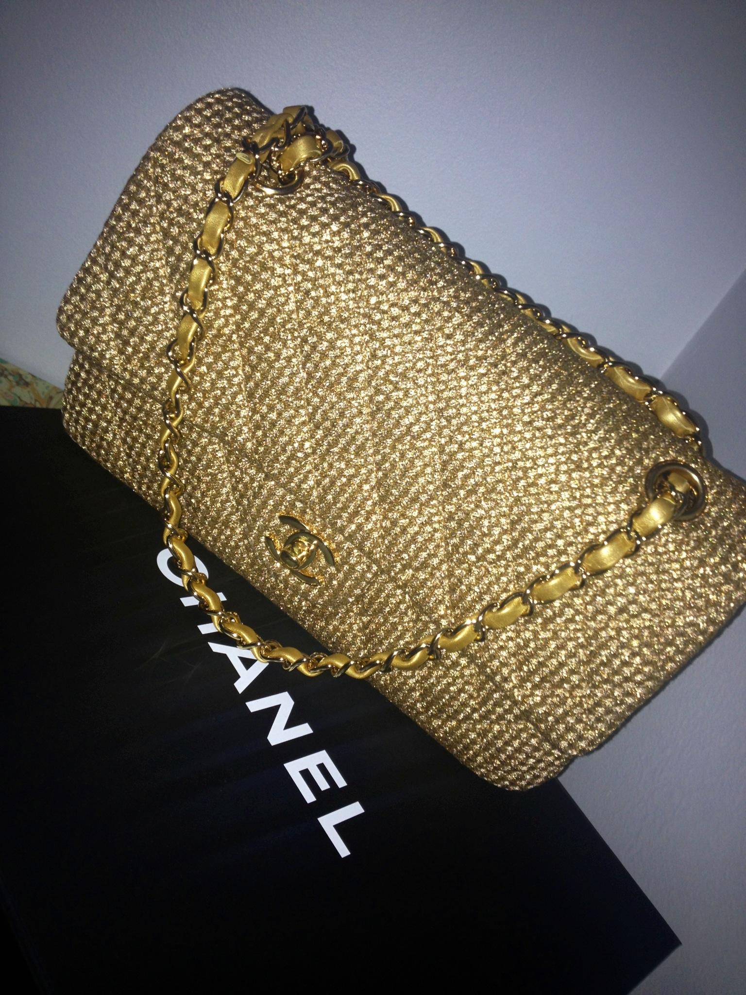 chanel tweed bag