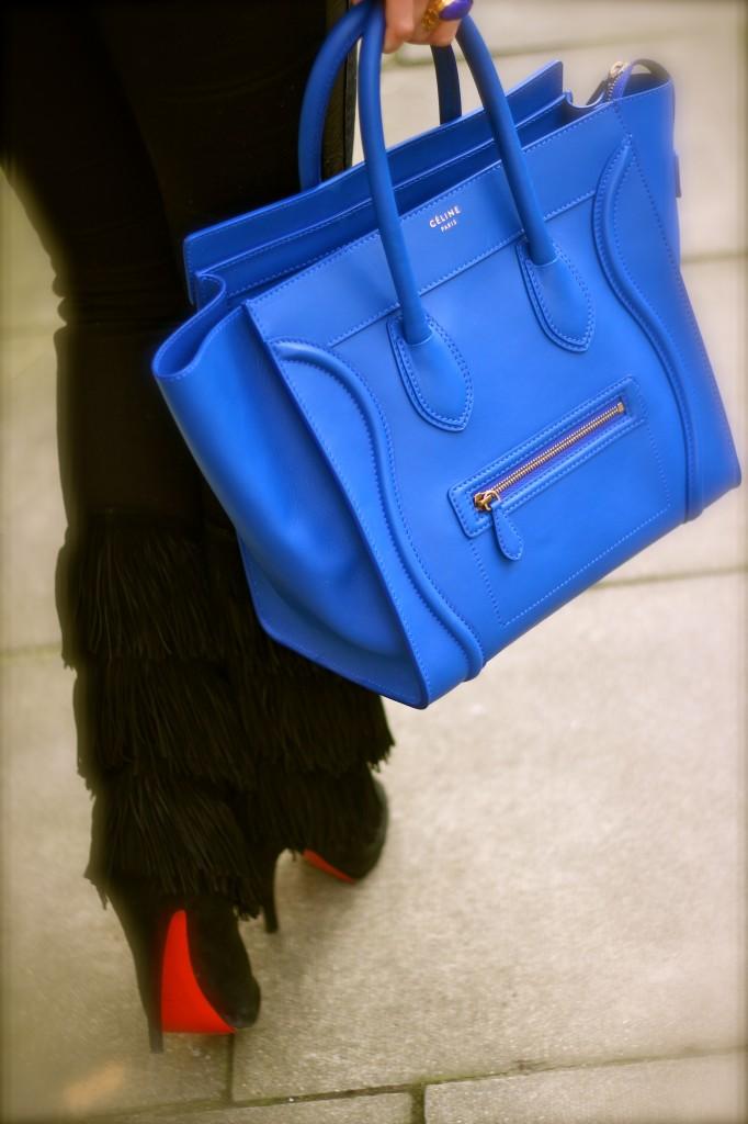 royal blue celine mini luggage