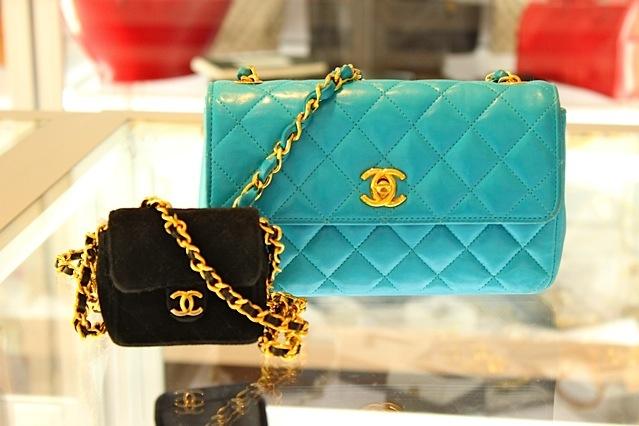 turquoise vintage chanel bag