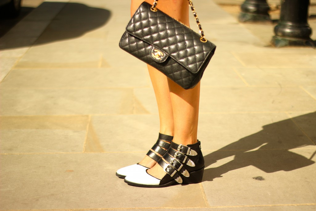 black and white toga and pulla boots