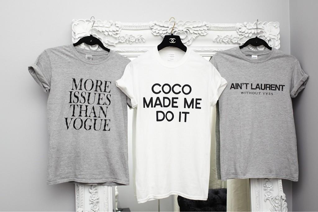 fashion slogan t shirt