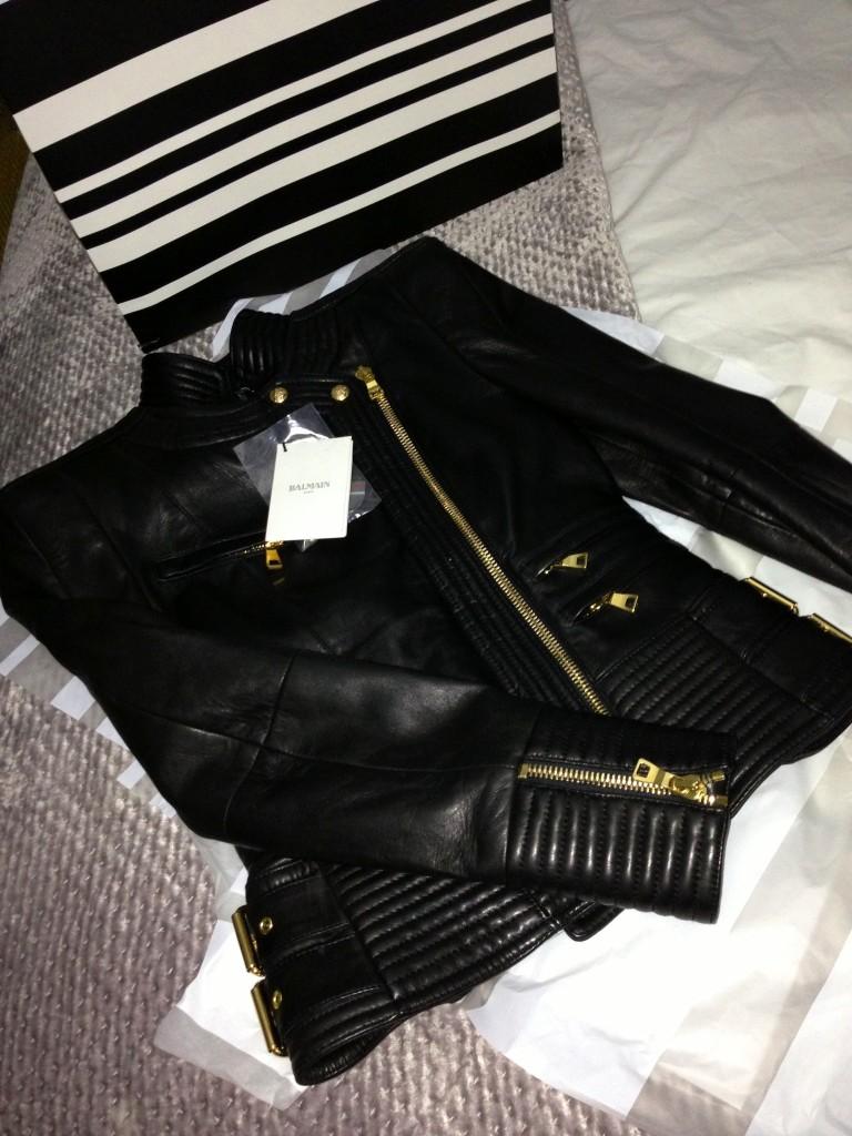 aw13 leather balmain jacket