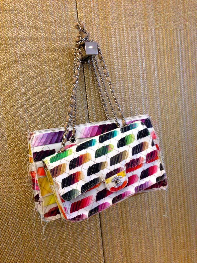 multicoloured chanel flap bag