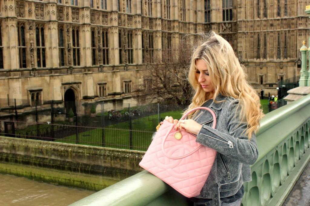 pink chanel medallion bag