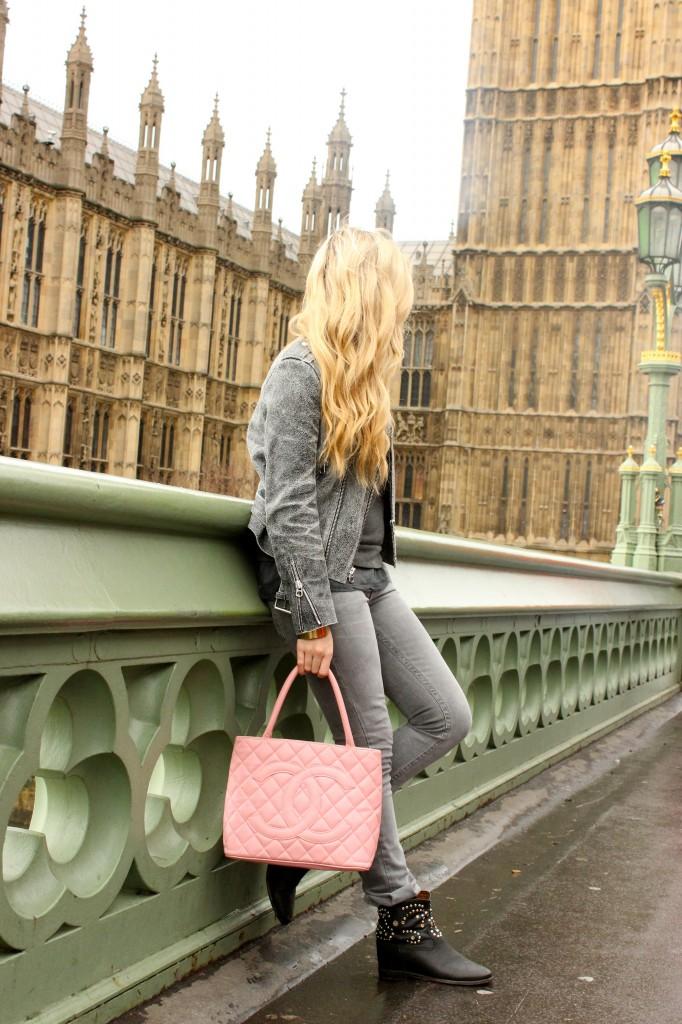 pink vintage chanel bag