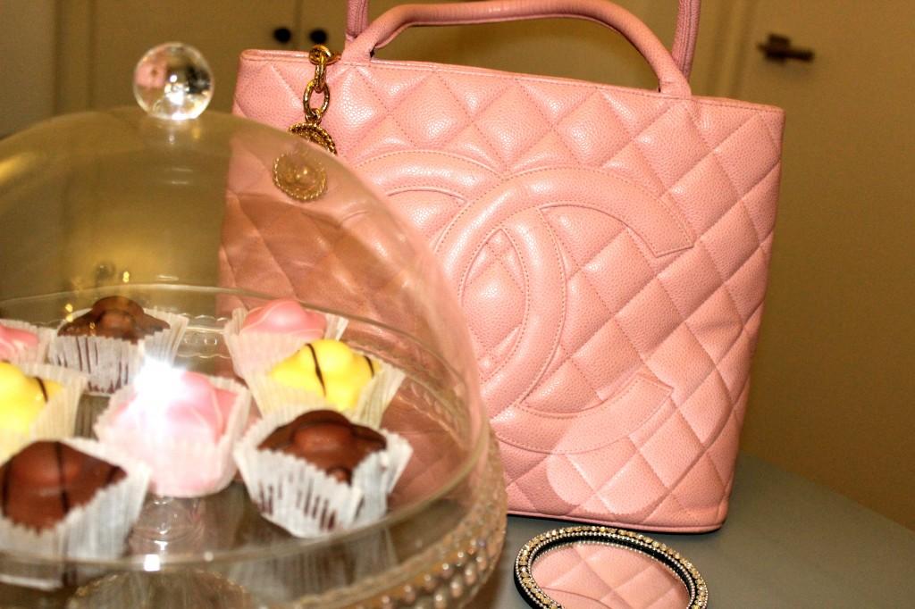 pink vintage chanel bag for sale