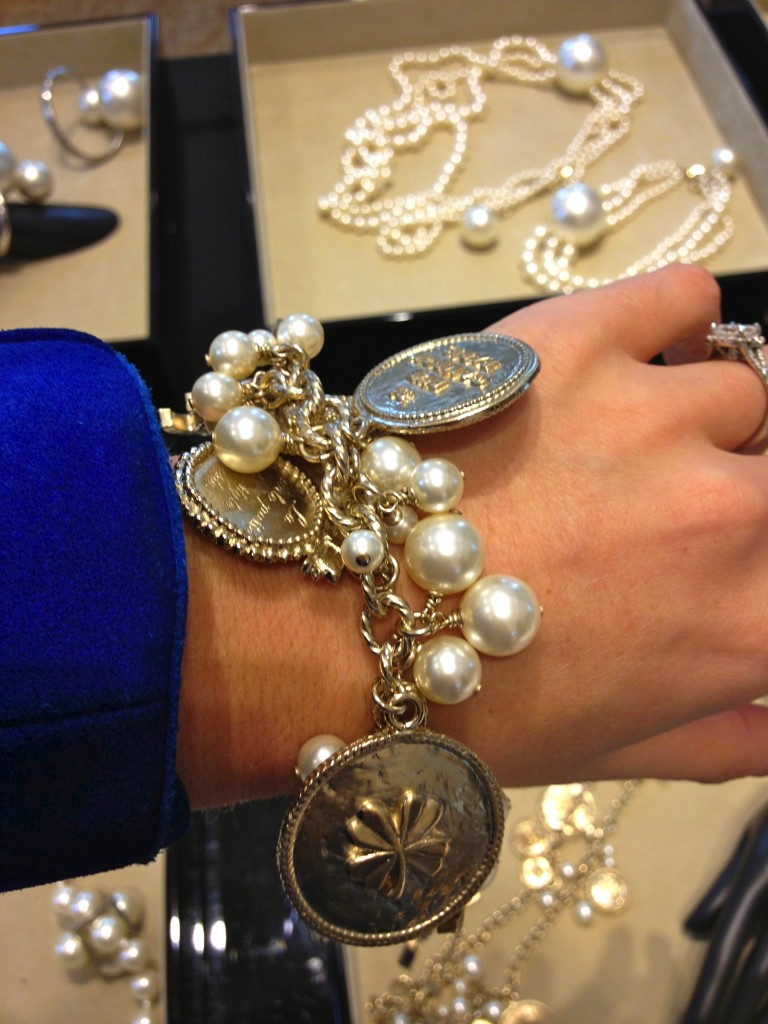 silver chanel bracelet
