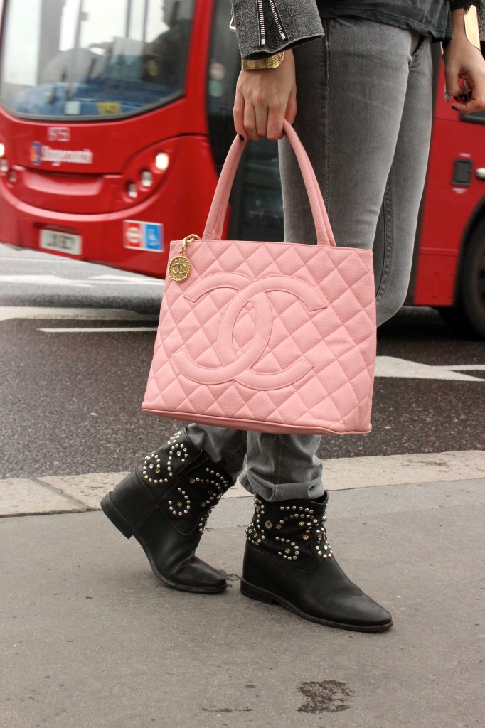 vintage pink chanel purse