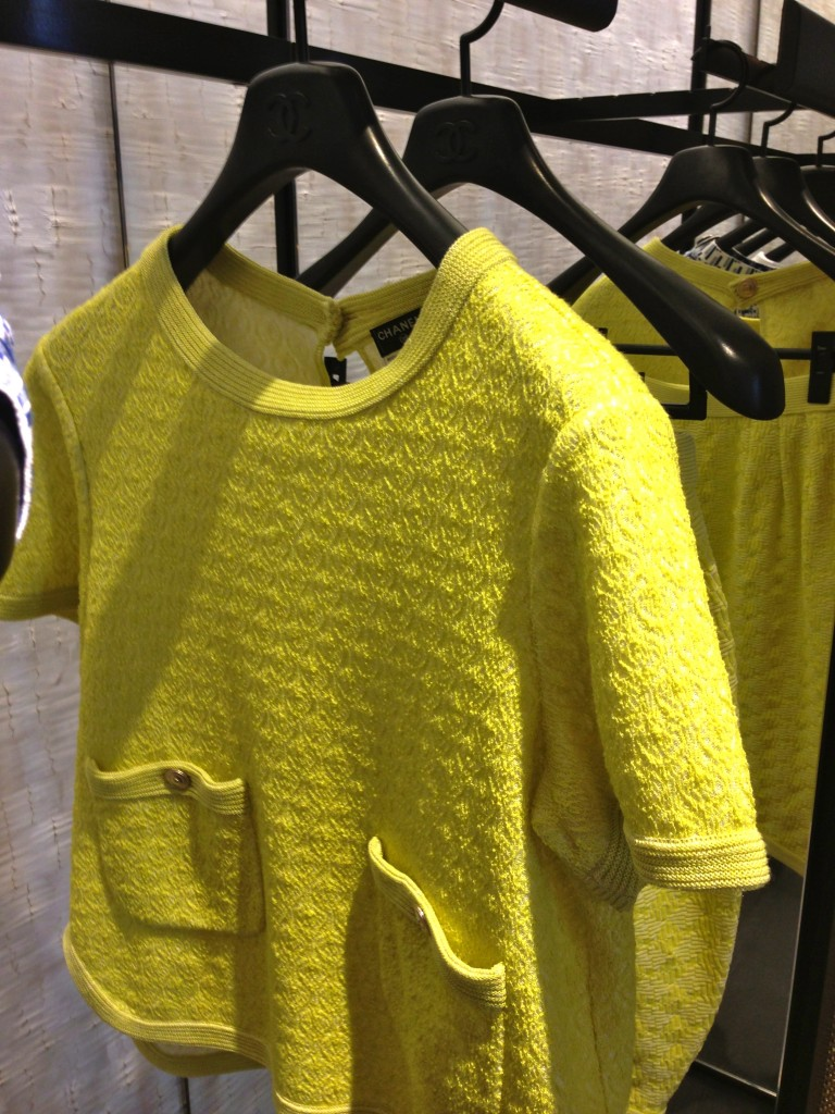 yellow chanel top ss14