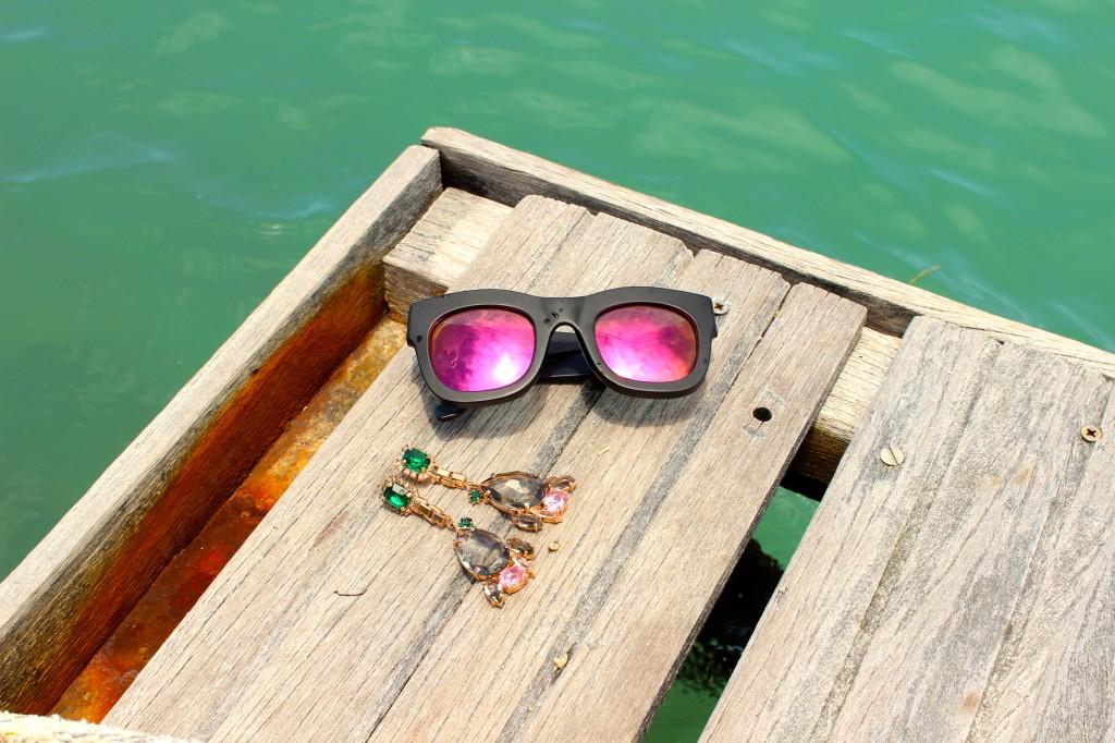 illesteva pink mirror sunglasses