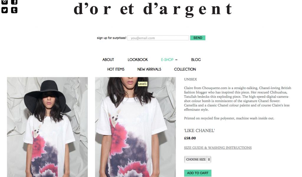 dor-et-dargent like chanel tshirt