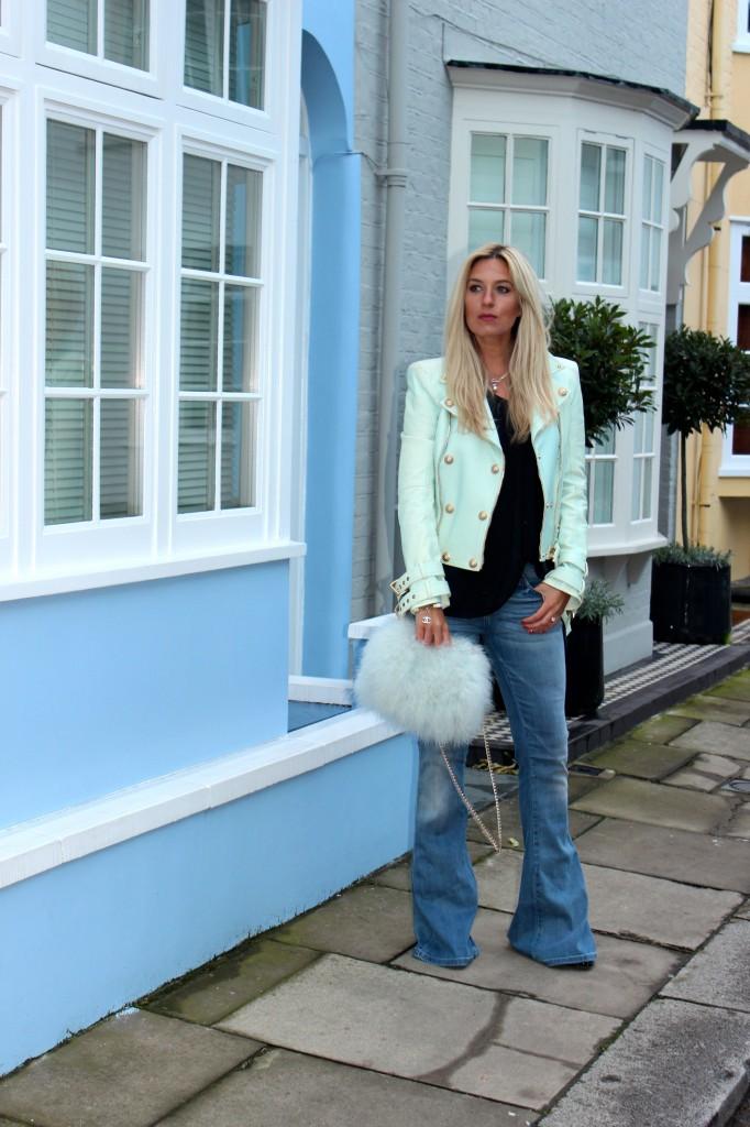 balmain leather jacket sale