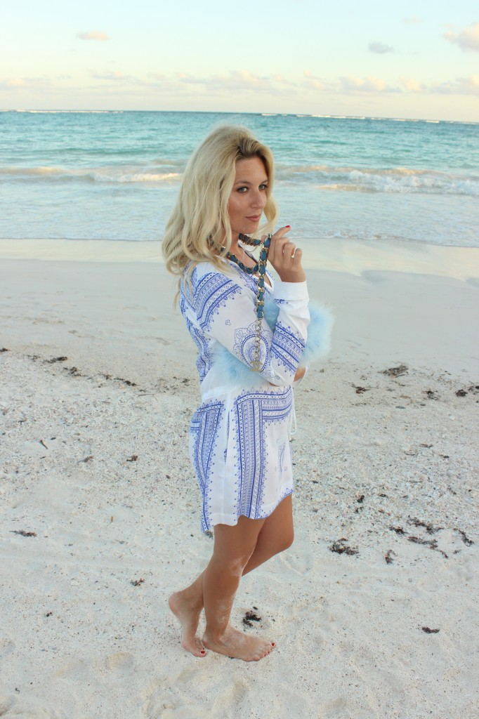 jetset diaries blue and white dress