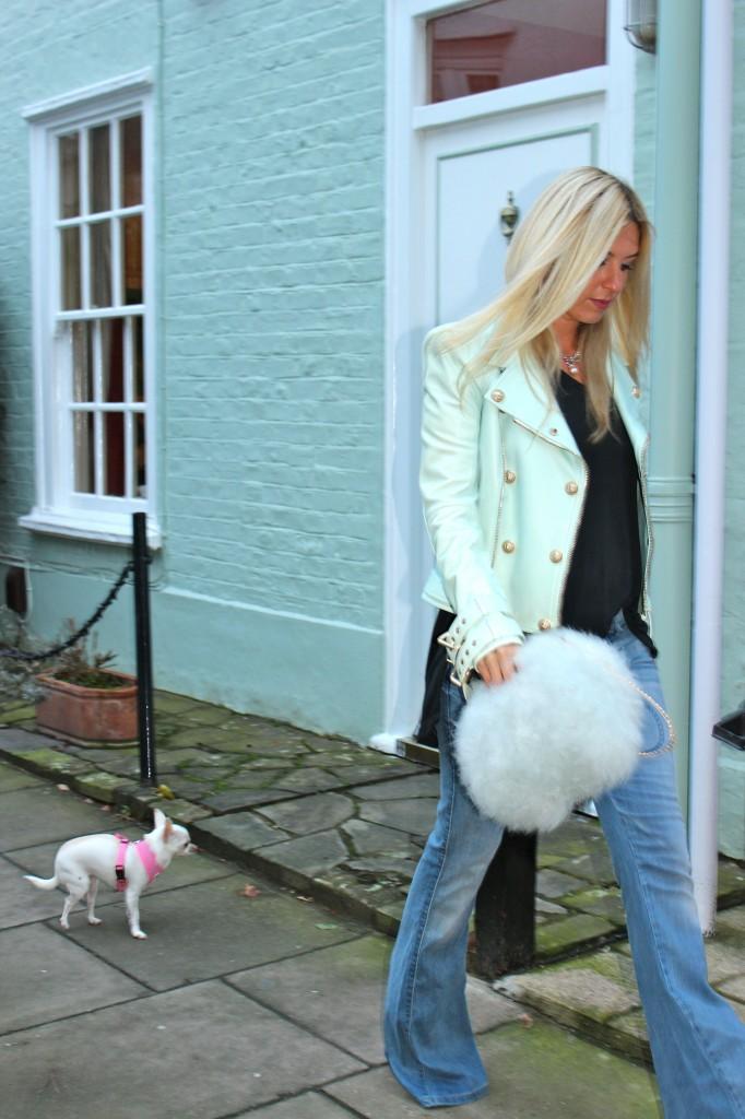 miss selfridge fluffy bag