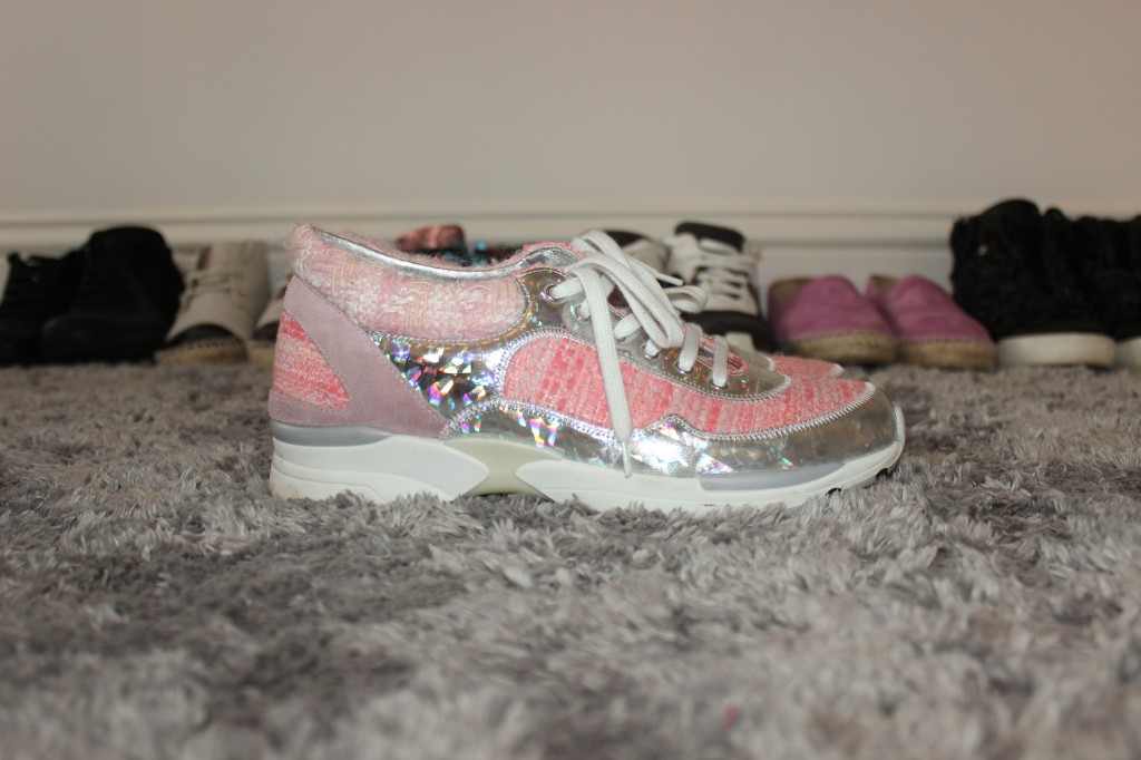 PINK CHANEL SUPERMARKET TRAINERS