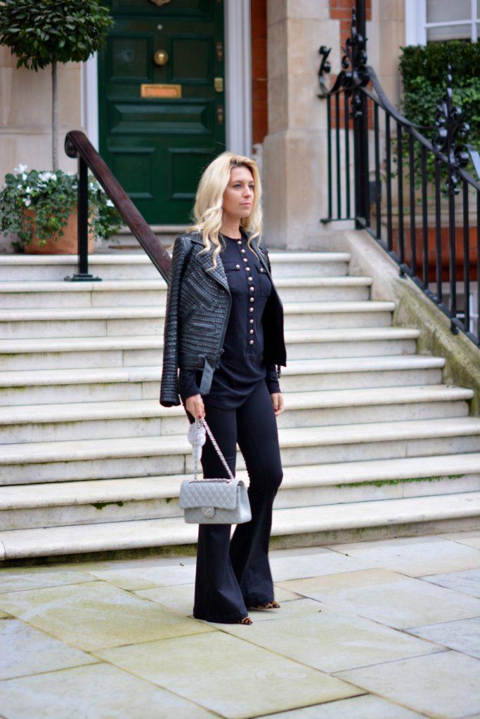 black alc leather jacket
