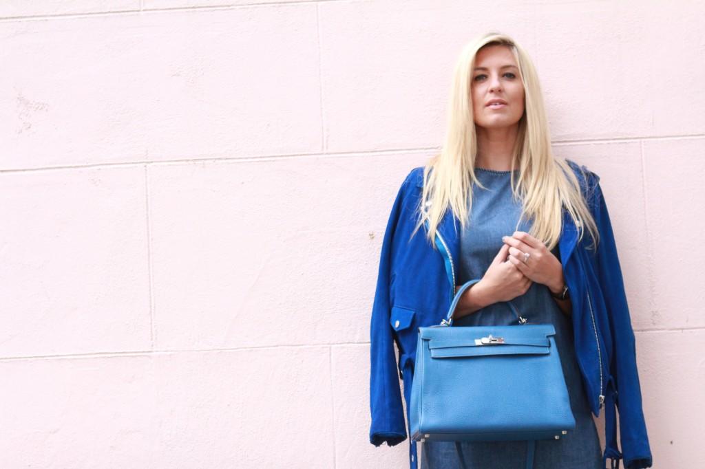 blue jean hermes kelly bag