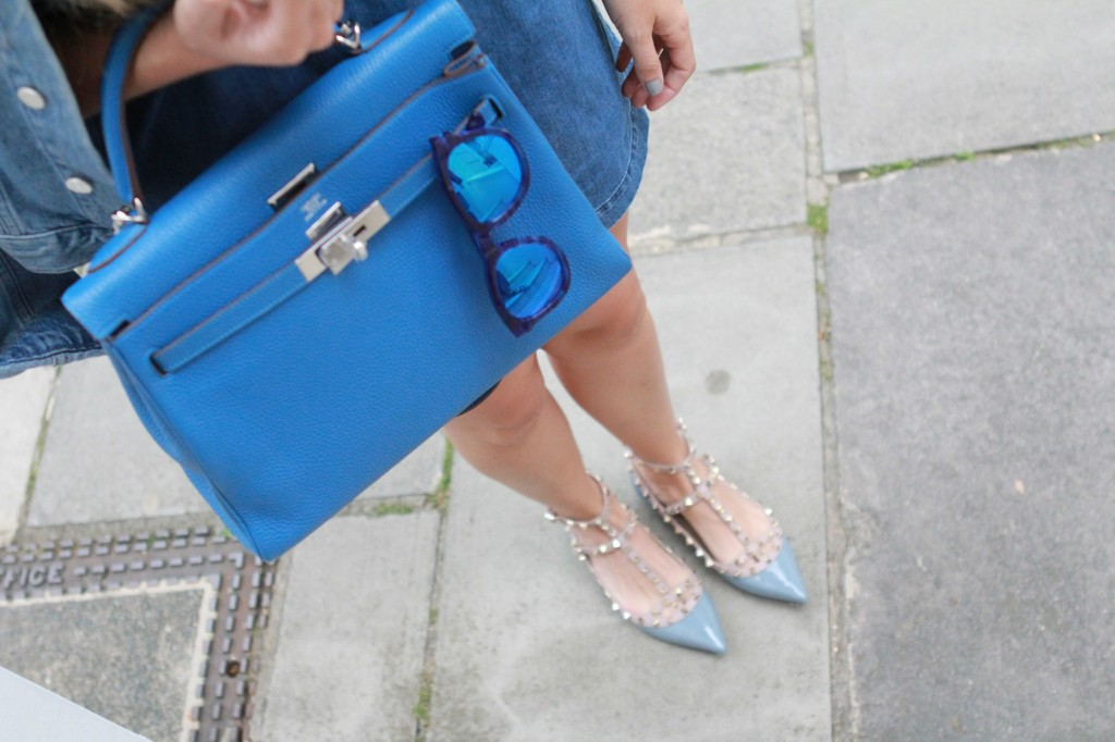hermes togo blue kelly for sale