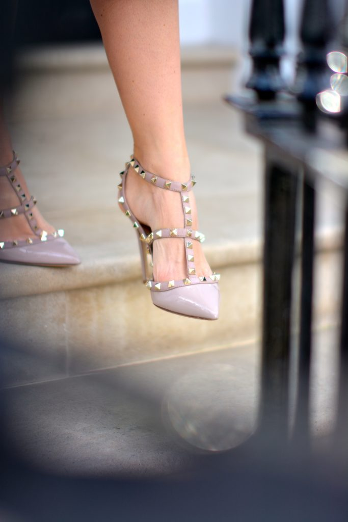 valentino nude rockstud shoes